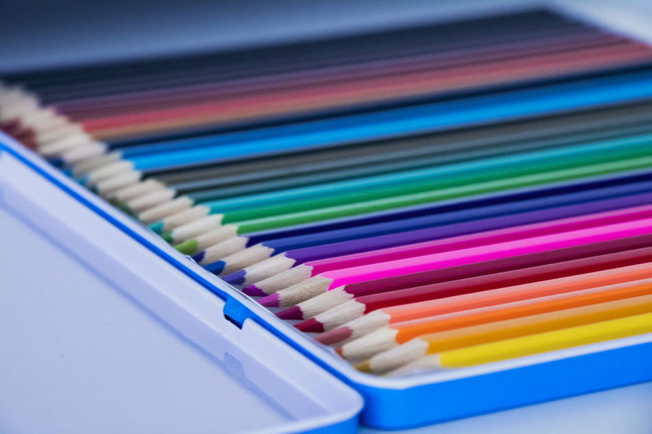 Close-up Color Color Palette Colored Pencil Colorful Colors Colourful Colours In A Row Multi Colored Pencil Variation