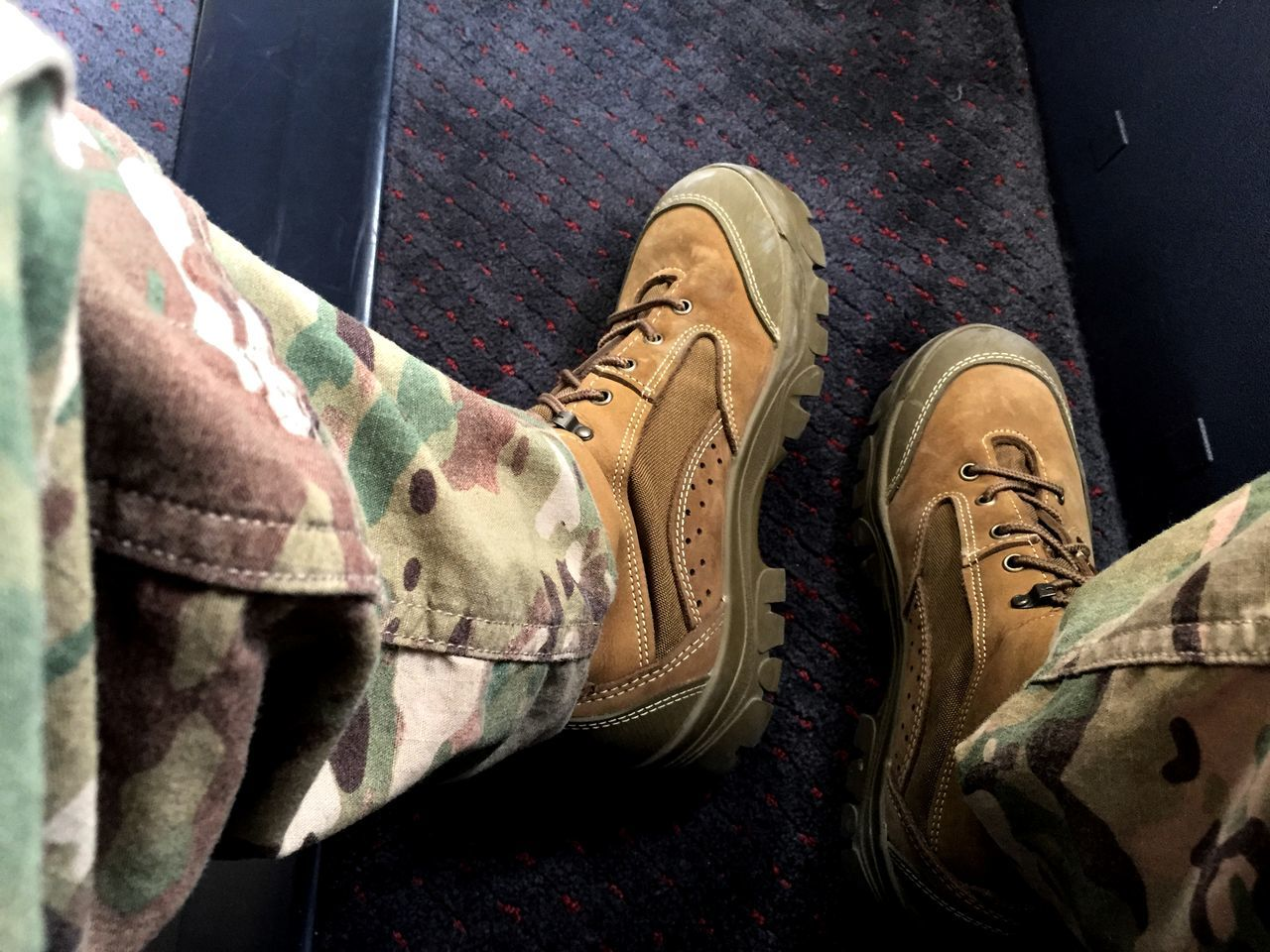 shoe, high angle view, low section, human leg, one person, human body part, day, close-up, men, military, standing, indoors, real people, army, people