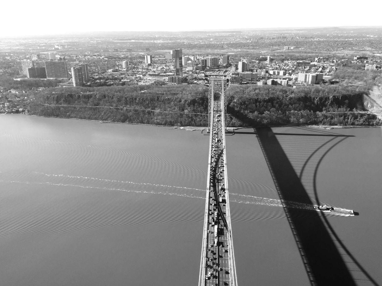 Aerial View Of Traffic On Bridge