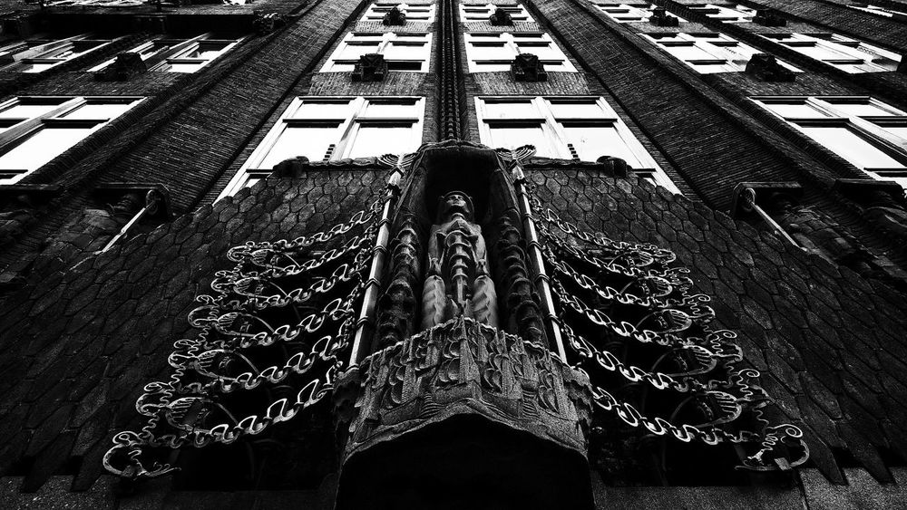 Big brother is watching you | Symmetrical Architecture in Black And White | Urban Geometry | Geometric Shapes