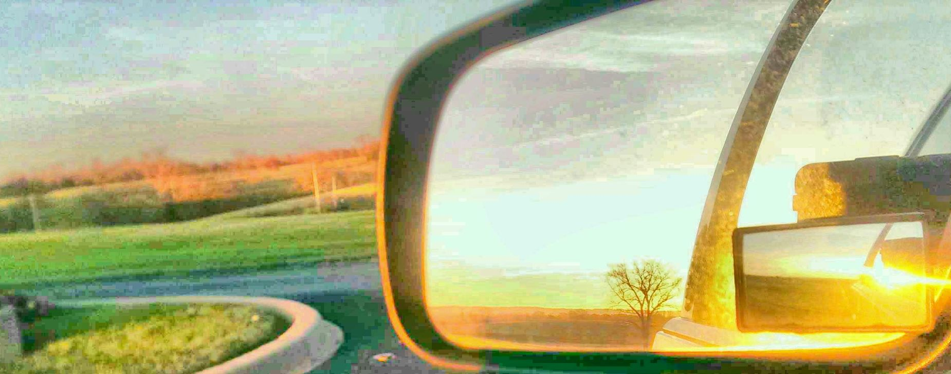 reflecting Sideviewmirrorshot Sideviewmirror Sunset Colors