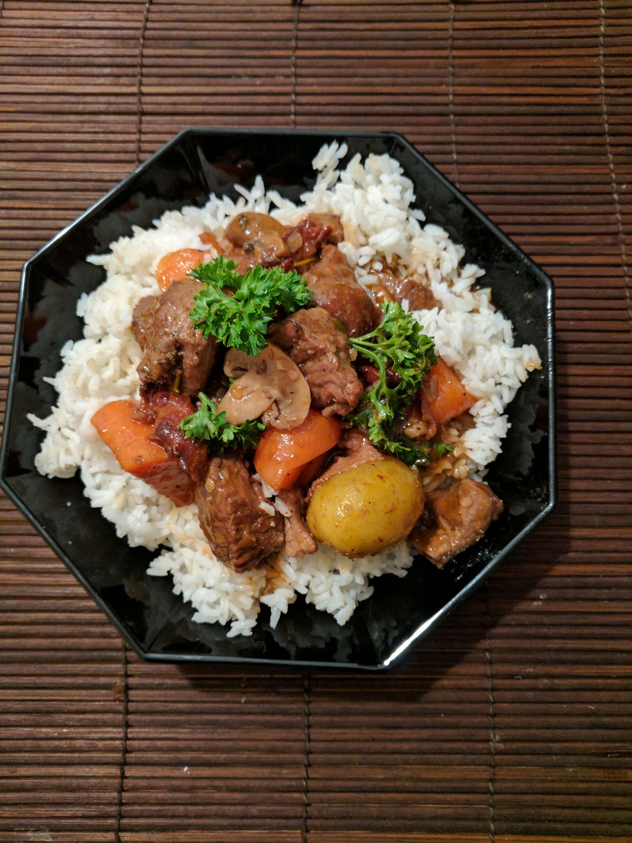 Day Food Food And Drink High Angle View Indoors  Meal No People Plate Ready-to-eat Rice - Food Staple Vegetable