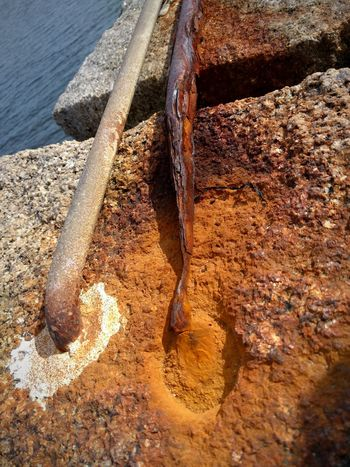 Rusty Rusty Iron Aging Aging Process Aging In Style Iron Metal Rusty Metal Rusting Rusting Metal Generations Watching The Sea Two Generations Close-up Saltwater Decay Salem, MA Near Boston Hands Of Time Time Fading Away