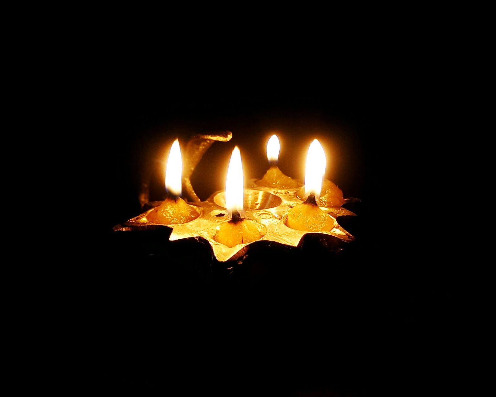 Its A Holy Candle Which Has Five Fire In It really Beautifull by PranoyBanerjee