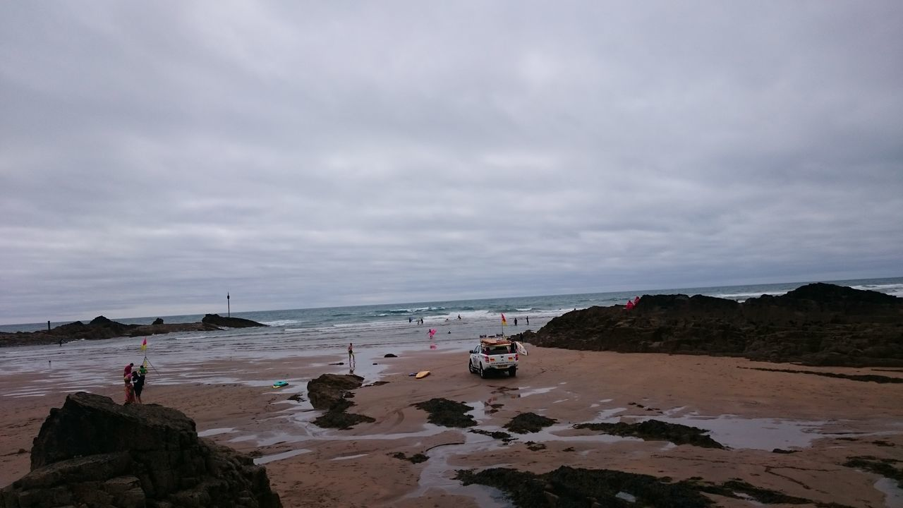 Bude Beach Sea Landscape Horizon Over Water Tranquility Freshness