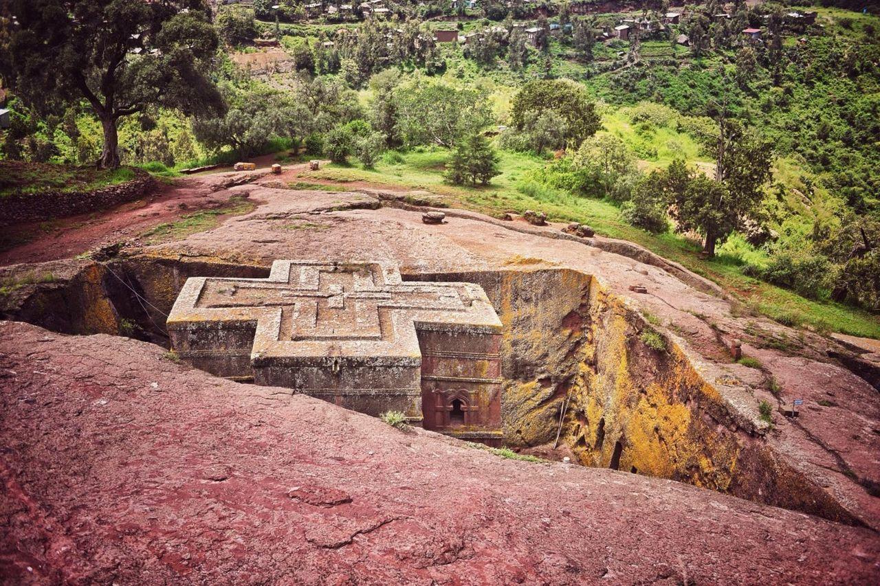 Lalibela, Ethiopia Lalibela Africa Church Rock Rock Church Saint Giorgys Monolithic