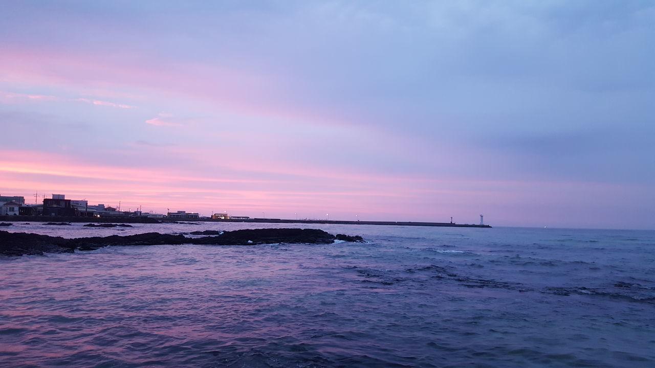 세화바다 Jeju Island, Korea Sea Beauty In Nature Nature Sunset