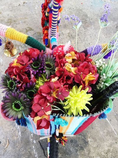 A basket of flowers for your bike Flowers Fancy Bike Basket Of Flowers 🌷 Colourful Decorated Bike
