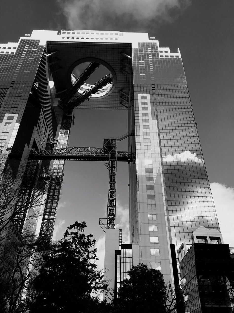 The City Light 2017 Eyeem Awards EyeEm Best Shots EyeEm Best Shots - Black + White Modern Architecture Building Exterior Low Angle View Skyscraper Sky Outdoors Cityscape Façade Curtain Walls Sunshine Osaca