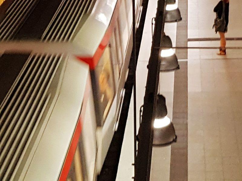 Hamburg , Schlump Indoors  Day City Hamburg Hamburg Rapid Transit Train Train Station One Person One Woman Only EyeEm Selects