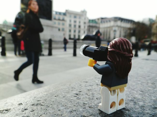 Camera CreativePhotographer LEGO Hello World From My Point Of View EyeEm Best Shots Eye4photography  Eyemphotography London EyeEm Gallery EyeEmBestPics Standing Day City England Creative Toy Photography Figure Lego Minifigures Legophotography EyeEm LOST IN London