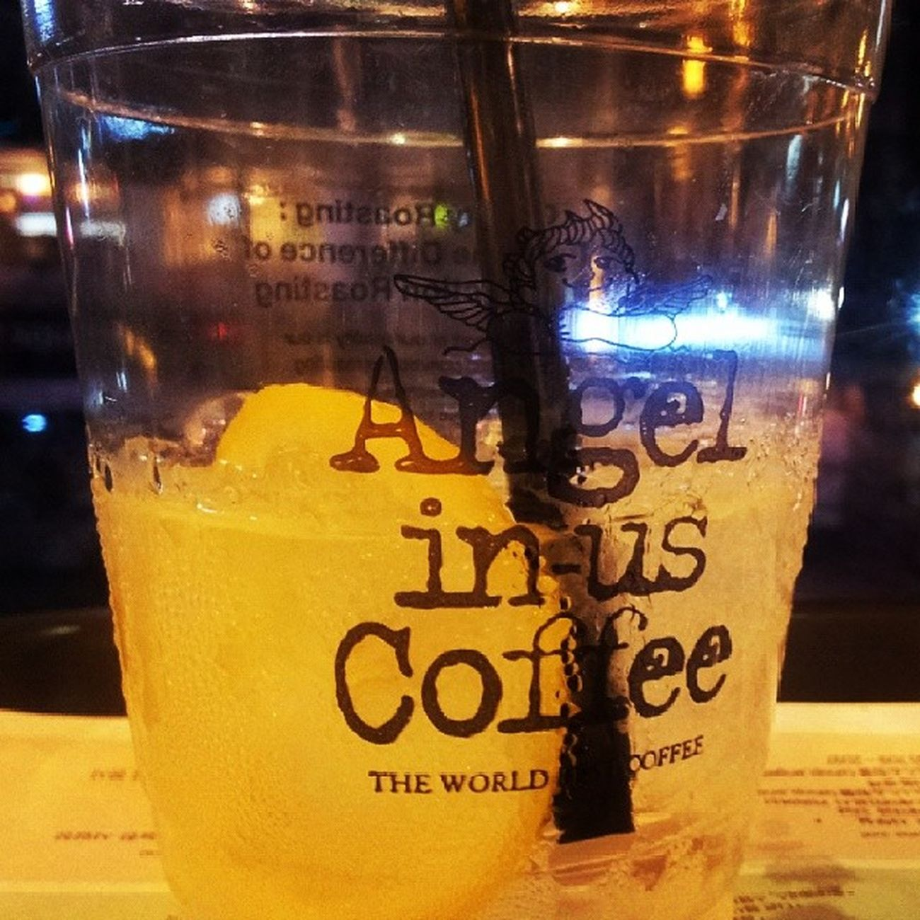 waiting for the morning comes with a glass of lemonade ^^ ANGELINUS Lemonade Newyeareve Hongdae cafe