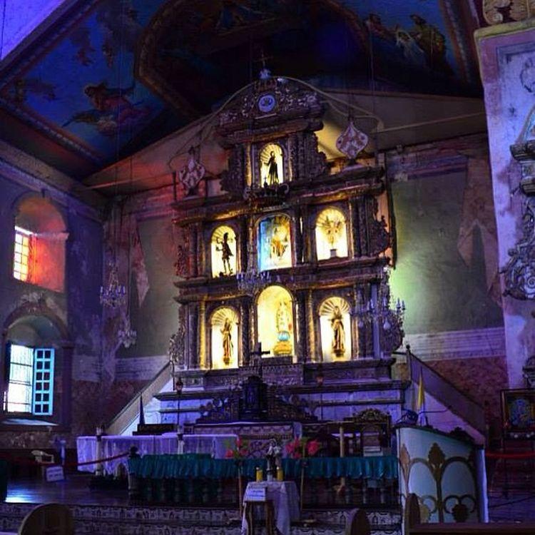 Inside BACLAYON Church , Bohol Seepilipinas Travelph Oldchurch ASIA Capture Historicalplace Philippines Pilipinas