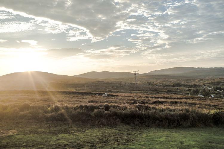 Autumn Backlight Cloud Clouds And Sky Flare Horizon Over Land Ireland Landscape Moody Sky Mountain Range FujiFilm X100 mountains and sky Sun Sunrise Irelandinspires