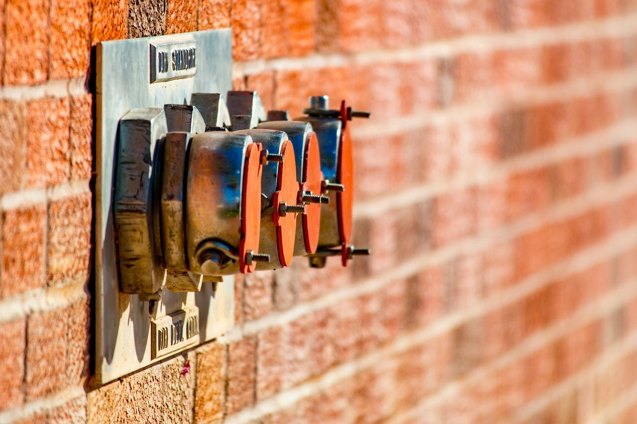 Dry Standpipe FireFighting  Fire Science Reflection Brick Brick Wall Photography