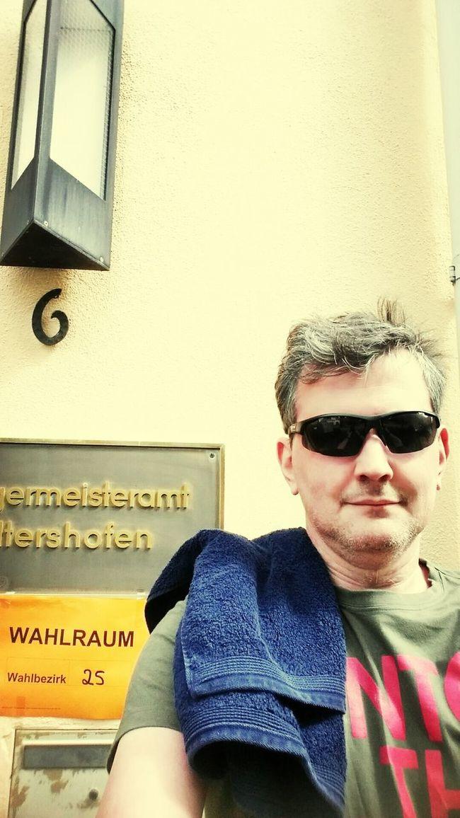 Am Towel day im re:publica T-Shirt und mit Handtuch gewählt. Zufrieden? Auch gemacht? Towelday Europawahl