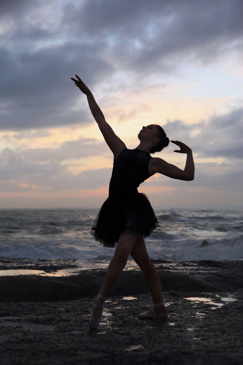 Beautiful stock photos of dance, Arms Raised, Ballet, Ballet Dancer, Beach
