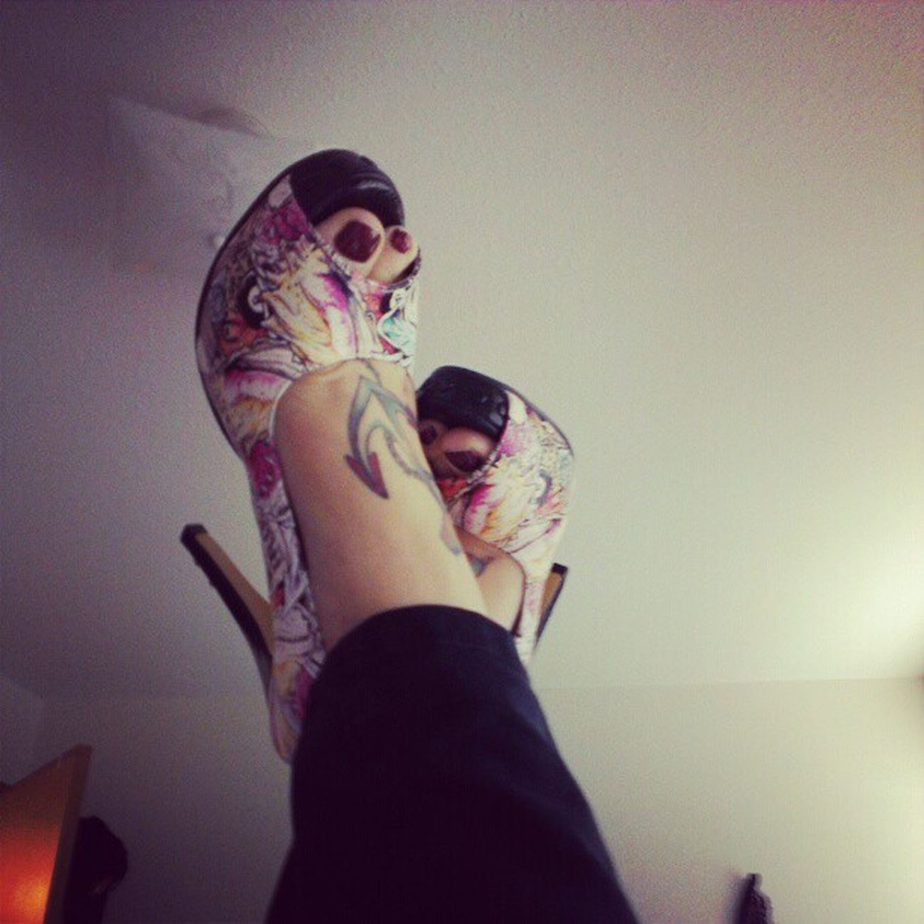 I love my iron fist shoes! Sexyshoes Heels HighHeels Ironfist if tattoos nauticaltattoos classictattoos
