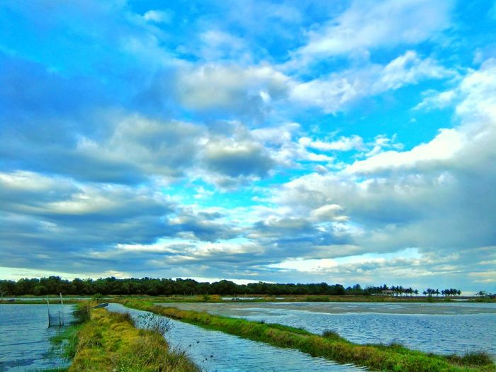 Cloud - Sky Water Lake Outdoors Tranquility Reflection Scenics Sky Nature No People Tranquil Scene Day Beauty In Nature Landscape Blue Tree