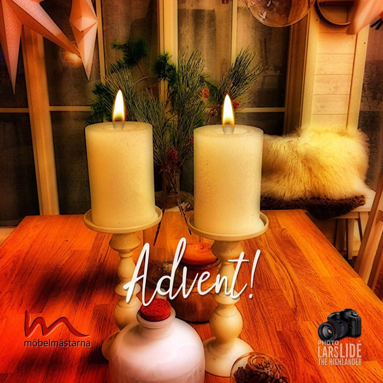 Candle Flame Candlelight Indoors  Home Interior Christmas Decoration Awesome