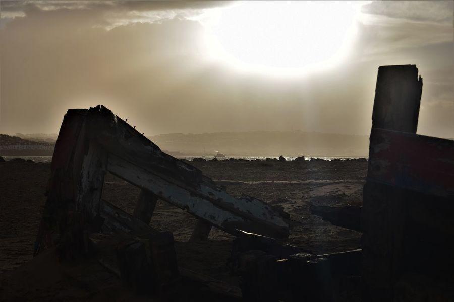 Appledore North Devon Abandoned Beauty In Nature Lifeboat RNLI Nature No People Scenics Sky Sun Sunbeam Sunlight Wrecked Boat.