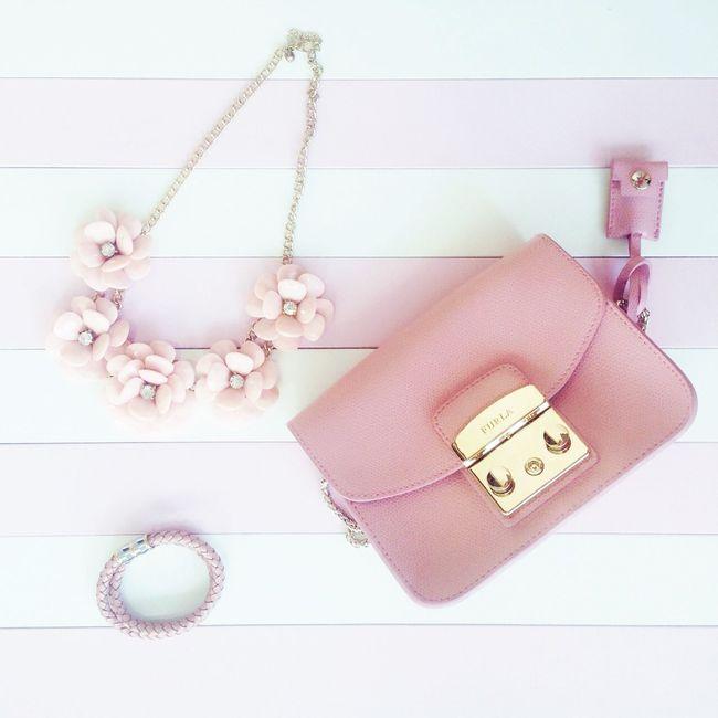 Bag Furla Furlametropolis Pink White Acessories Flatlays