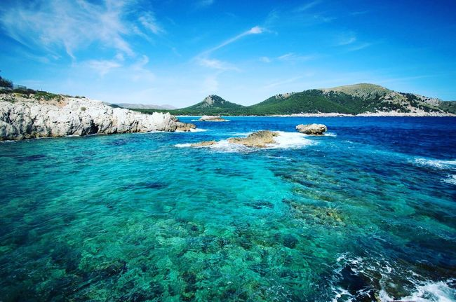 Mallorca Sea SPAIN Spain ✈️🇪🇸 Balearicislands Blue Sky Bluesea Waves Travel