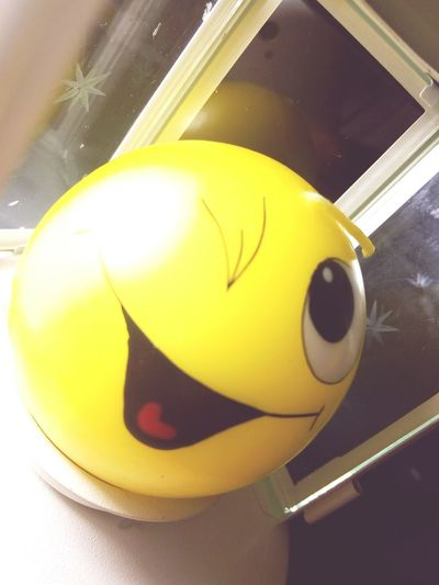 Yellow Indoors  Close-up Science No People Day Face Candle Yellow Smile Smiley Face Sphere Indoors