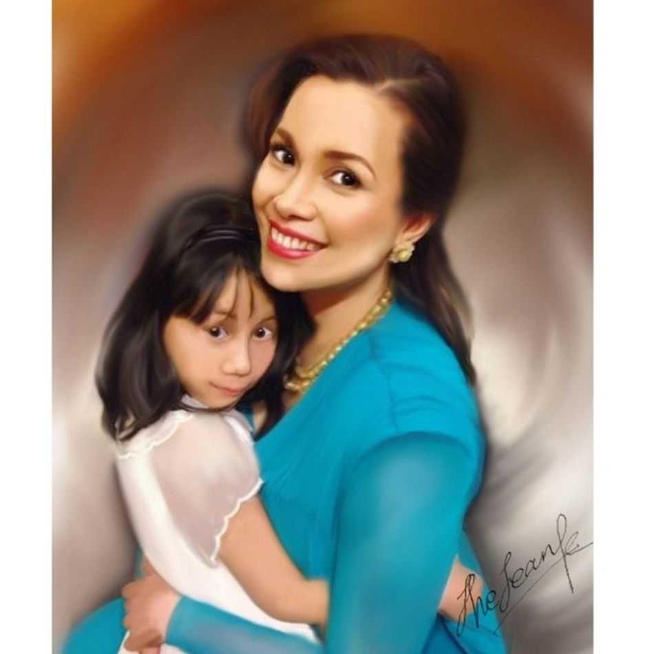 Time for C-Sketching of MsLea & her daughter,Nicole.....Leasalonga Nicolechien