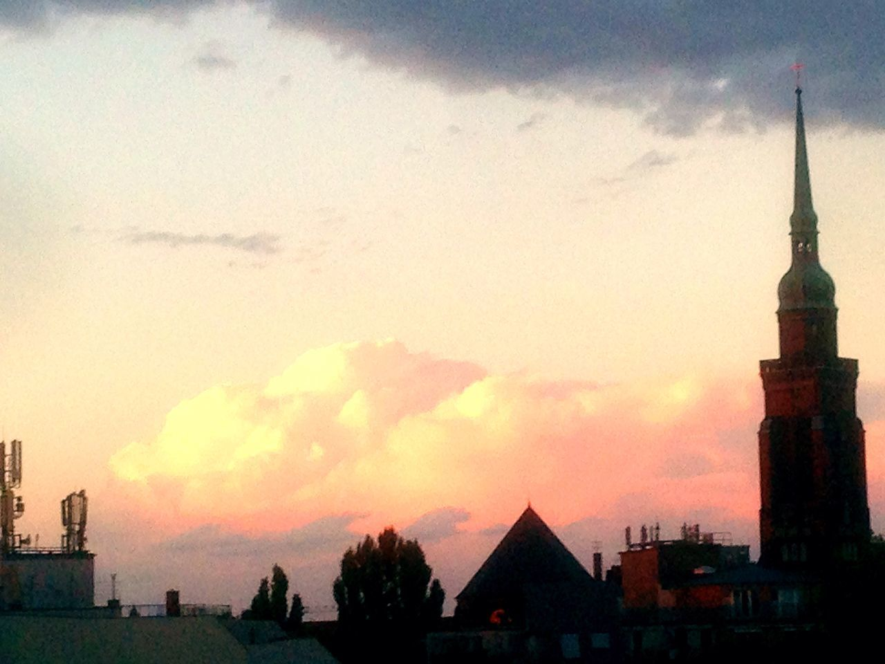 Clouds And Sky Clouds Church Taking Photos Nice View Silhouette Berlin