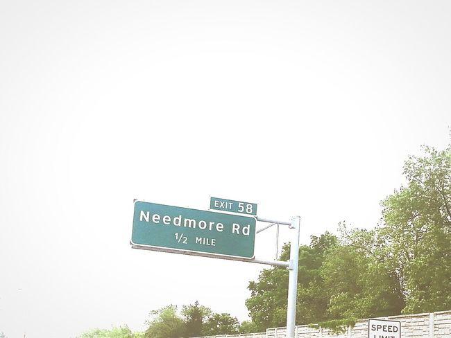 Road Trip Georgia Via Michigan Ohio Road Sign Needmore Rd