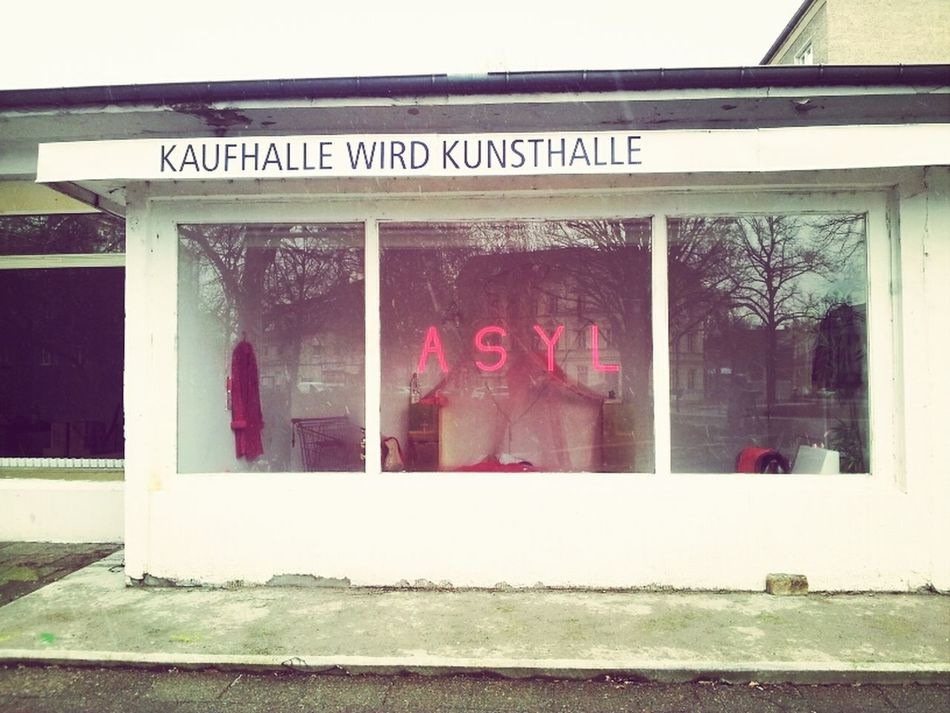 Art Installation Kunsthalle Asyl Kaufhalle