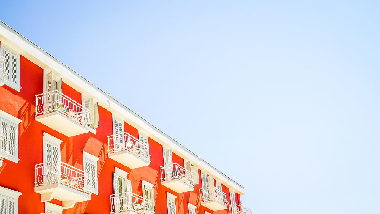 Red House Building Exterior Buildings & Sky Built Structure Croatia Hotel House Orebic Red