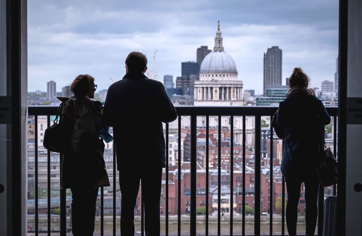 Looking out to St Paul's, London Architecture Built Structure Building Exterior Dome Real People Travel Destinations City Sky St Paul's Cathedral St Pauls Cathedral London Lifestyle London LONDON❤ Togetherness Day Cityscape Friendship Adult Indoors  Urban Skyline People EyeEm LOST IN London