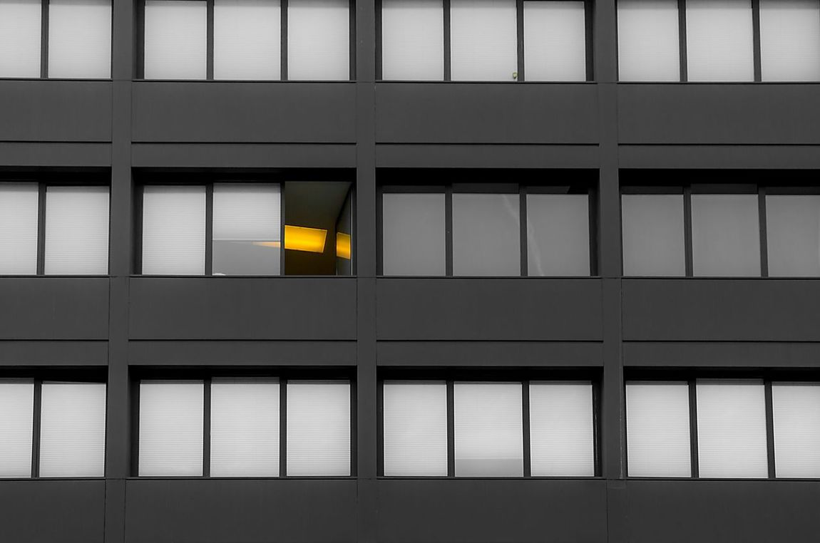 Vienna Architecture Windows Black & White Black And Light There Is A Light That Never Goes Out Office Hours Regularity Patterns EyeEm Best Shots My Best Photo 2015