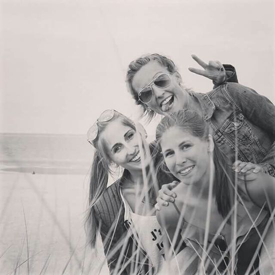 My Daughters ❤️ Girls Beauty At The Beach Sisters ❤ Portrait Blackandwhite Shades Of Grey