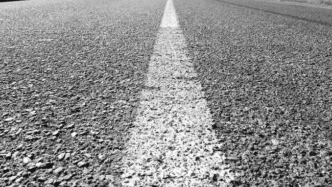 On The Road Trip Alone Enjoying Life Holiday Fine Art Black And White Black & White