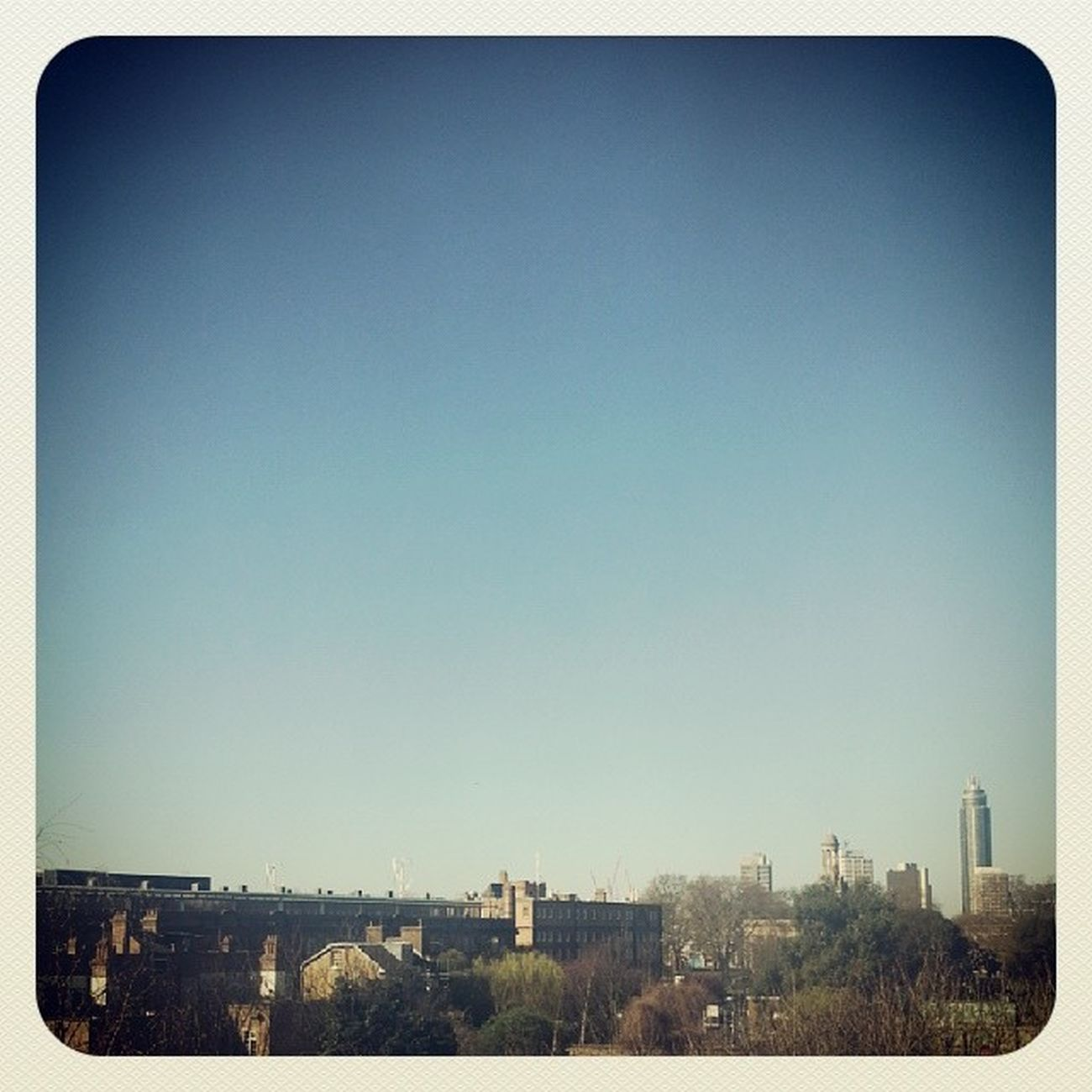 Gorgeous day today in London Kennington City Skyline insta_uk