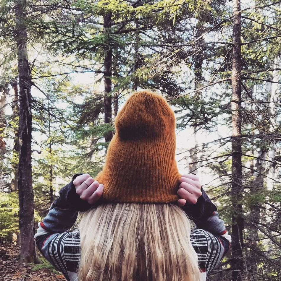 Deer Leap. Waist Up One Person Tree Lifestyles Rear View Real People Outdoors Leisure Activity Women Nature Close-up Vermont Hiking Trail Heart Hike The Way Forward Travel Adventure Fall Nature No People Pine Trees