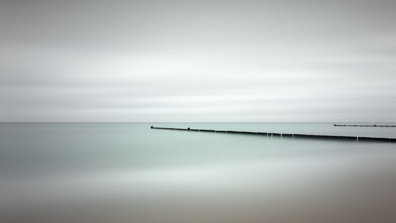 scenic view of sea against sky Baltic Sea Ocean View Beauty In Nature Day Fine Art Horizon Over Water Kühlungsborn Long Exposure Minimalism Muted Colors Nature No People Outdoors Philipp Dase Scenics Sea Sky Summer 2017 Tranquil Scene Tranquility Water Waves