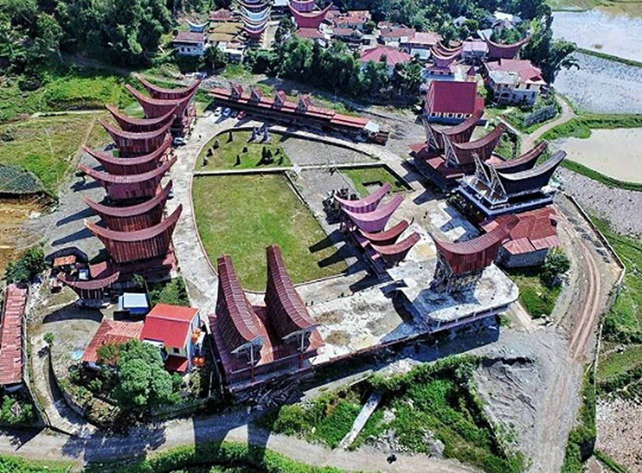 High Angle View Art Of Toraja Toraja Utara Toraja Indonesia Torajaland Culture Rumah Adat Ne'gandeng
