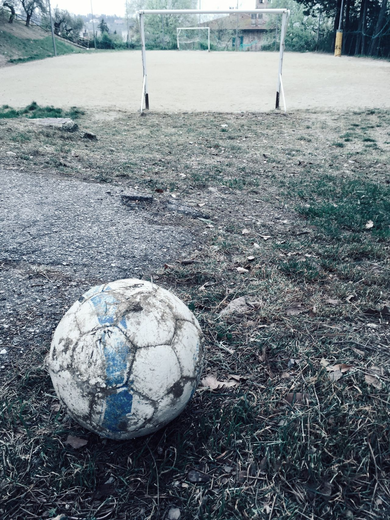 INAUDIBLE WHITE, UNSPOKEN AS A CLOUD; WHILE FROM THE SILENCE, A THIRST OF BREATH [series], by Claudia Ioan Soccer Soccer Ball Soccer Field Ball Grass Sport Outdoors No People Day Park Adapted To The City Mobile Photography Iphone6 VSCO Urban Photography Urban Perugia IPhoneography