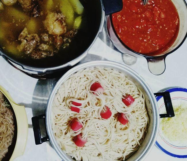 Birthday Party Food Healthy Eating Simple Celebration Asian Asian Foods Filipino Dish Pinikpikan Foodies Spaghetti Yum