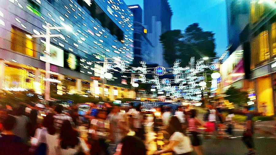 A Christmas scene Christmas Lights Festive Mood People Celebrating