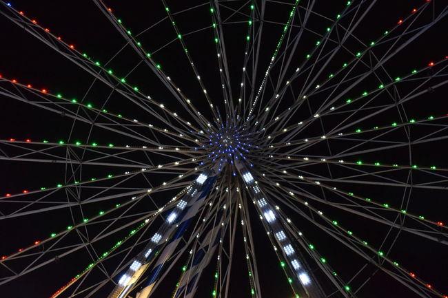 Big Wheel Fairground Ferris Wheel Full Frame Hull Hull 2017 Hull City Of Culture 2017 Illuminated Low Angle View Night Night Sky Outdoors Sky