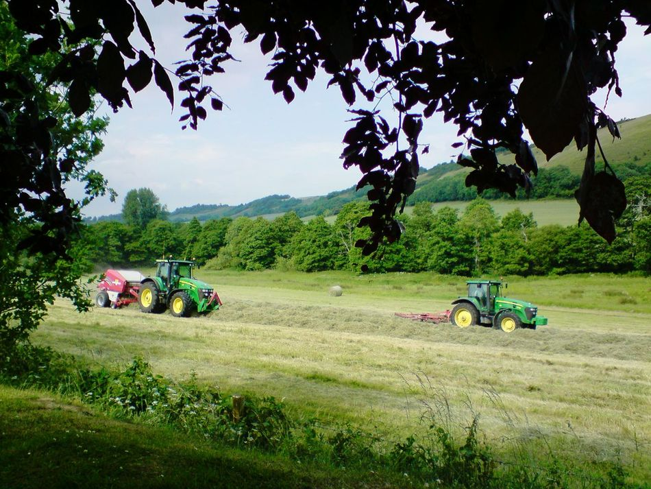 Haymaking The Modern Way Feilds Trees Agriculture Summer Time