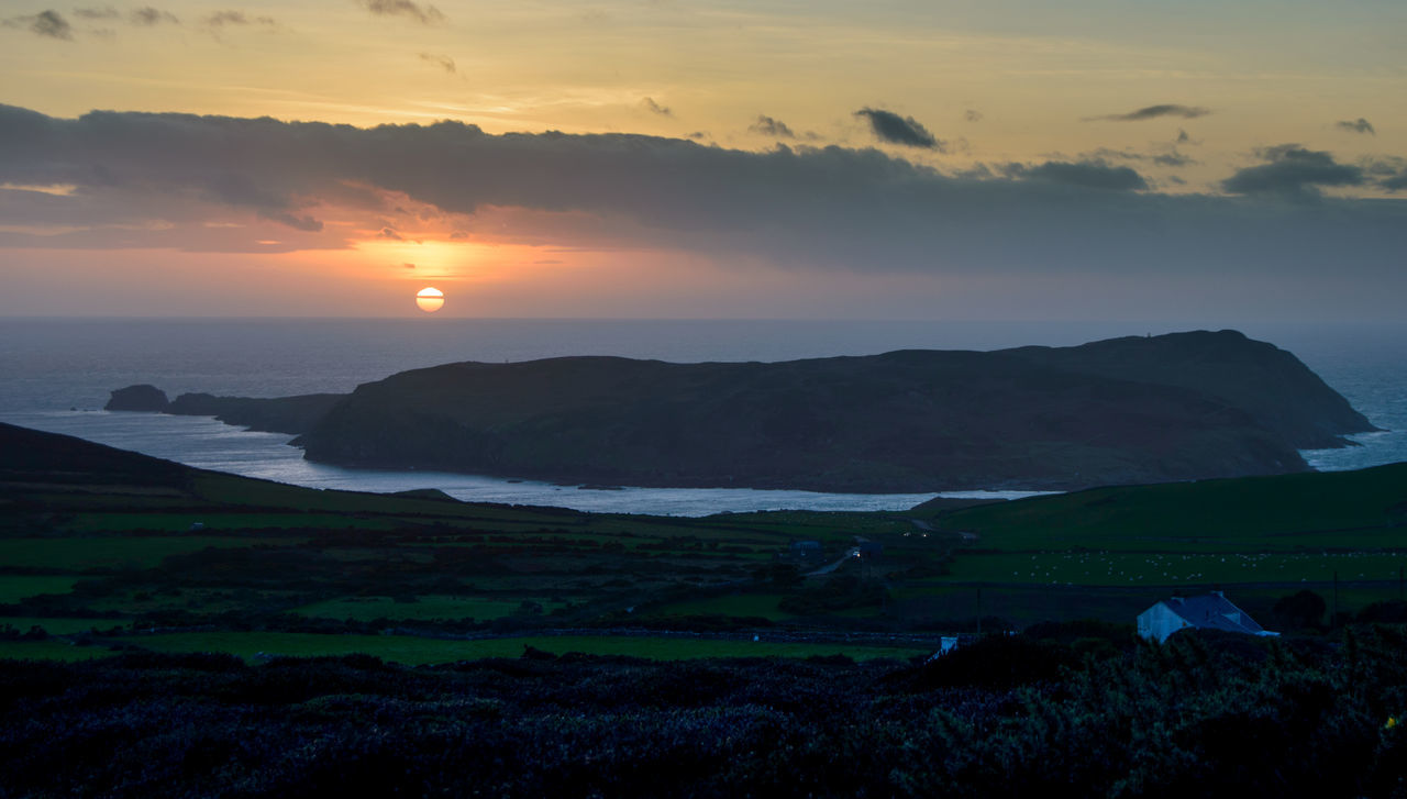 Calf Of Man Christmas Clouds Isle Of Man Landscape Nature No People Outdoors Rural Rural Scene Scenics Sea Sunset The Sound Finding New Frontiers Mist