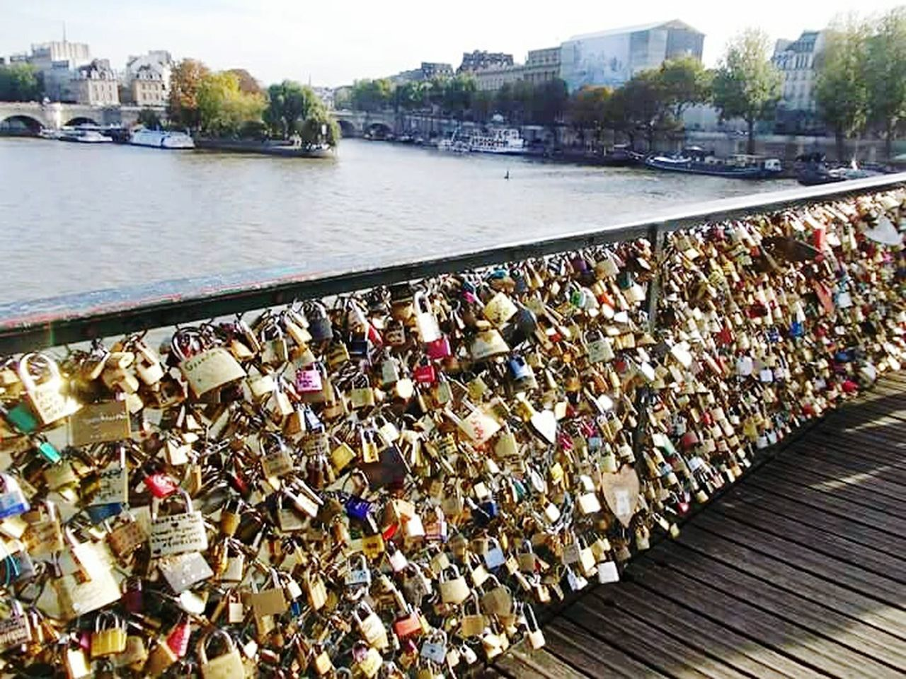 Paris-France, Travel Destinations Travel Photography Padlock Love Lock River Bridge - Man Made Structure