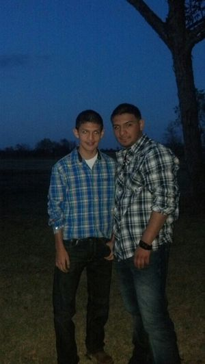 my bro and I #country #wearing #boots #cowboy