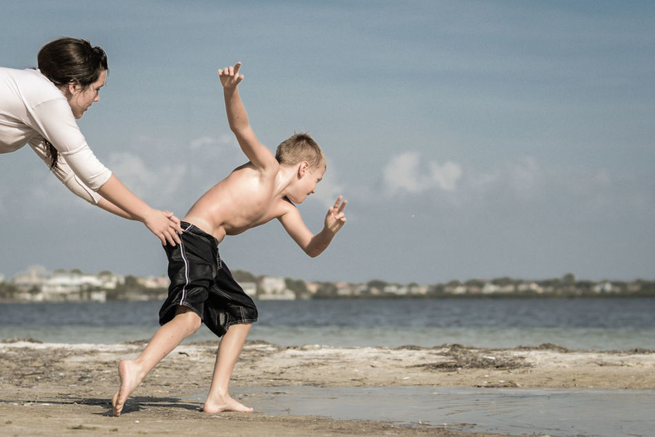 Beautiful stock photos of maternity, Beach, Boys, Childhood, Children
